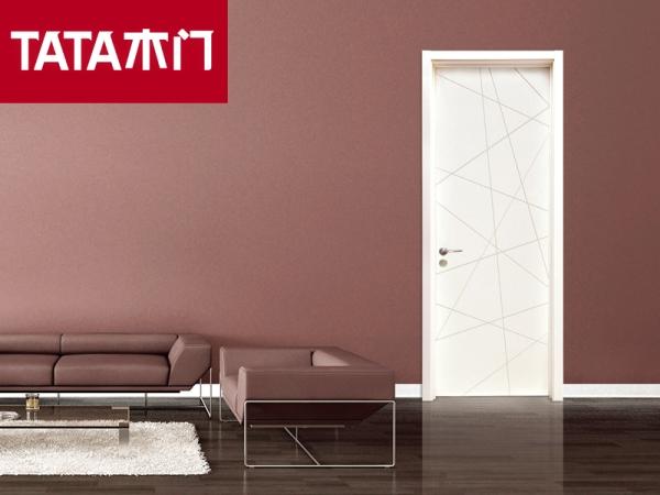 TATA木门@007现代雅典室内套装门实木复合卧室门免漆定制