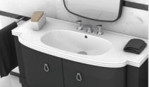 giessdorf/吉事多 艾珀卡一体式陶瓷台盆 欧式浴室柜图片