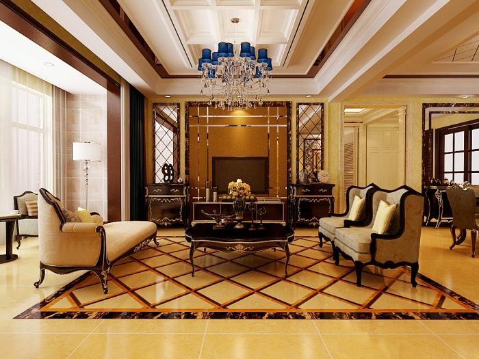 欧美风情-222.77平米四居室-装修样板间