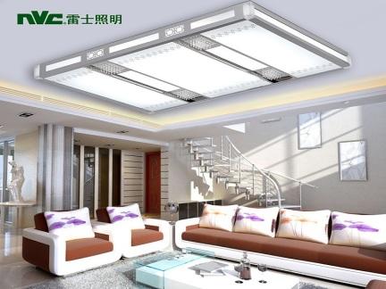 雷士照明LED客厅灯吸顶灯现代简约方形亚克力铝材灯NYX14