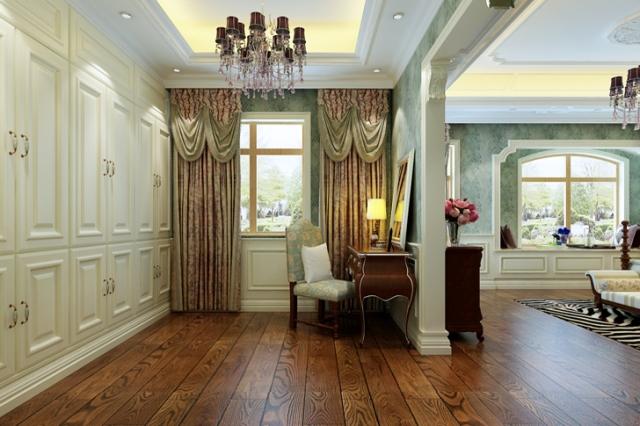 简欧风格别墅客厅灯具效果图图片