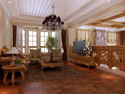 托斯卡纳风格三居室客厅装修效果图欣赏