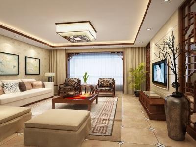 中式古典-144.43平米三居室装修样板间