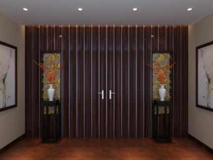 托斯卡纳风格三居室玄关隔断装修效果图