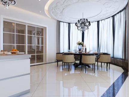 托斯卡纳风格三居室客厅隔断装修效果图欣赏