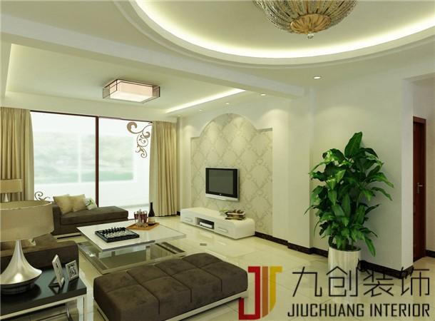 鲁发名城-现代简约-110平米三居室装修图片