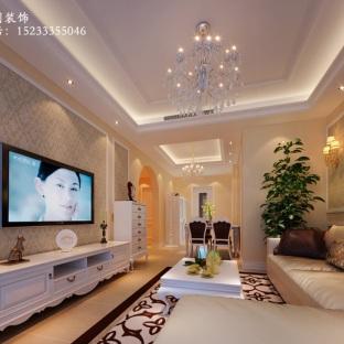 法式风格二居室装修效果图
