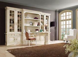 顶固衣柜 白腊木书柜