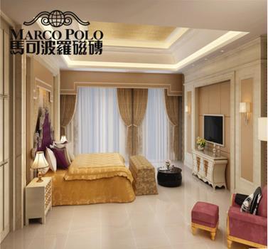 马可波罗 白洞石客厅卧室地砖 玻化砖 PG8233C