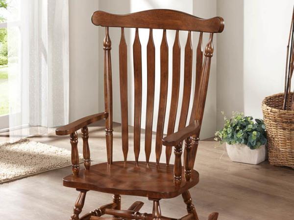 青岛美立方家居纯实木维堡古典摇椅