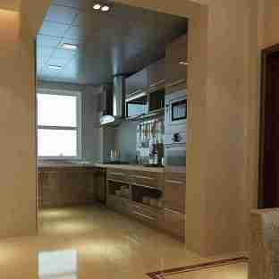 现代港式风格二居室厨房灯具效果图图片