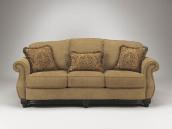 青岛美立方外贸家具美式布艺沙发三人位