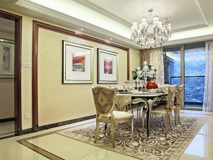 中式古典-199平米三居室-装修样板间