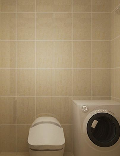 混搭风格-68平米一居室-装修样板间