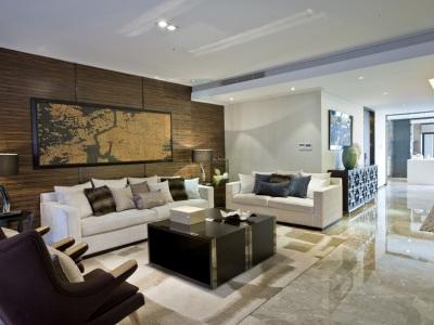 东南亚风格-120平米三居室装修样板间