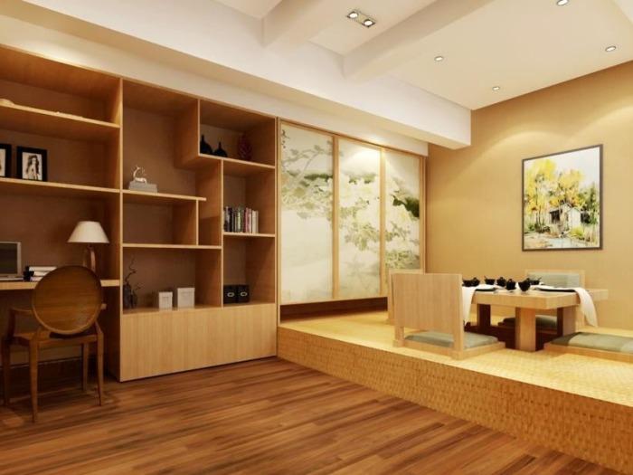 日韩风格-80平米二居室-装修样板间