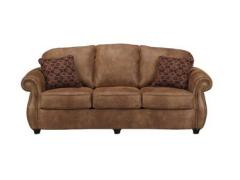 【新品】艾米尼奥家具 经典美式时尚现代棕色皮艺沙发组合YES