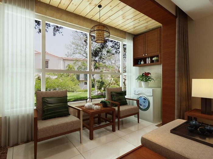 现代简中-142平米三居室-装修样板间
