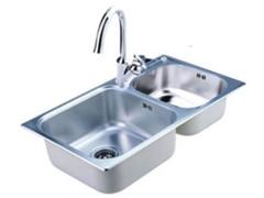 摩恩MOEN 304不锈钢水槽套餐 双槽洗菜盆 22026