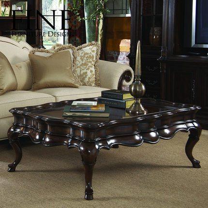 FINE精制家具 美式传统实木框架 古典鸡尾酒桌 奢华角几