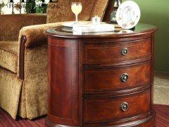 FINE精制美式传统家具 古典简约卧室客厅 三排桶形边桌
