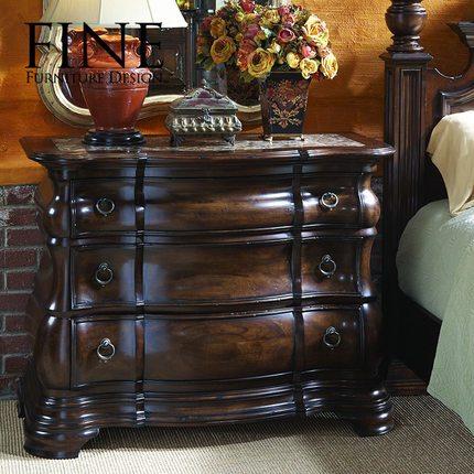 FINE精制美式传统家具 坚实耐用卧室床头柜