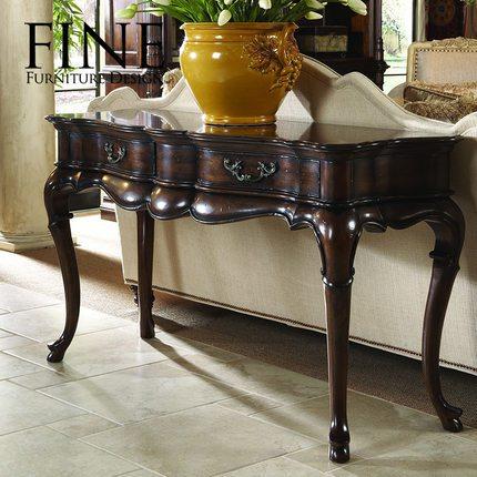 FINE精制家具 美式传统家具 实木框架 古典沙发背几案台