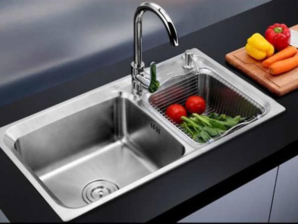 华帝 厨房304不锈钢 水槽双槽洗菜盆洗碗盆厨盆 水槽加厚