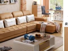 金海马 梵尔特系列 客厅真皮沙发皮艺沙发 欧式沙发转角组合