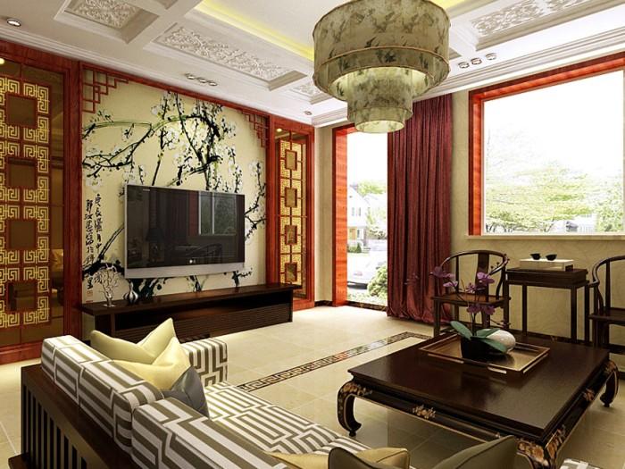 中式风格-260平米别墅-装修样板间