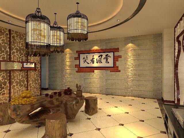 中式风格-200平米四居室-装修样板间