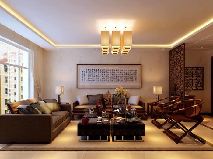 中式古典-222平米四居室-装修样板间