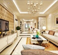 现代欧式风格三居室