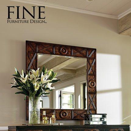 FINE精制家具 美式传统家具实木穿衣镜子卡萨布兰卡装饰镜