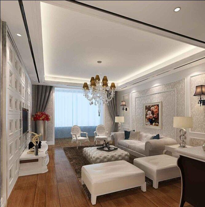 名都二期 简欧风格 93平米二居室装修图片高清图片