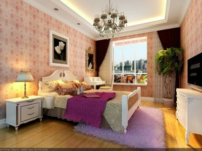 新古典风格-199平米三居室装修样板间
