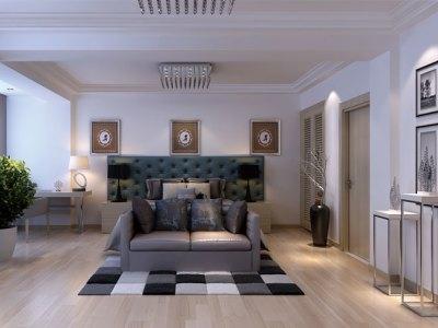 现代简约-199平米三居室装修样板间