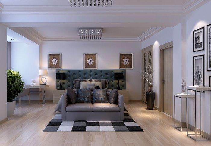 现代简约-199平米三居室-装修样板间