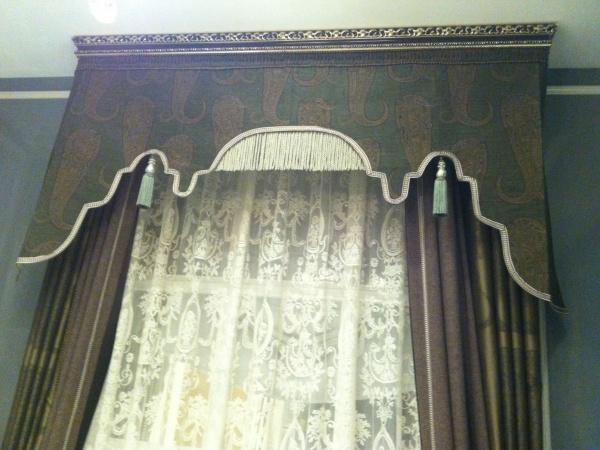 宝盛华庭装饰艺术风格呢绒窗帘