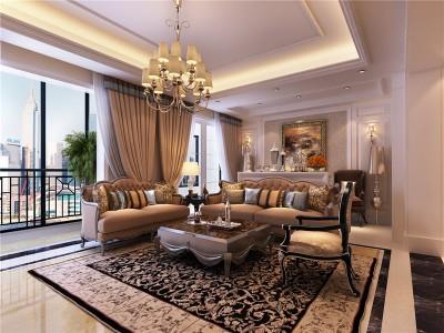 新古典风格-170平米四居室装修样板间