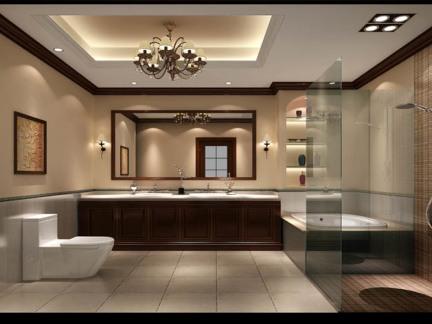 中西混搭四居室卫生间装修效果图大全