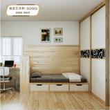 索菲亚衣柜卧室家具设计 转角书桌 写字台 书柜收纳柜组合定制图片