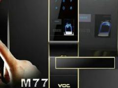 VOC指纹锁 M77 生物指纹密码锁 南京指纹锁