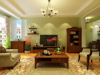 田园风格-124平米三居室装修设计
