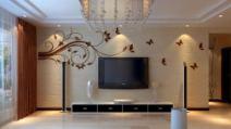 纯天然硅藻泥/电视背景墙图片