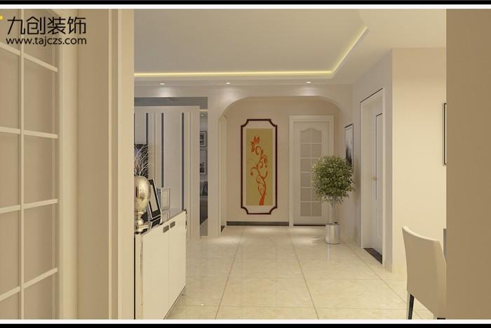 现代简约-124.24平米三居室-装修样板间