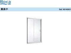 Roca乐家莫迪卡一字型非标淋浴房(哑银色)