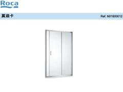Roca乐家莫迪卡一字型非标淋浴房(2固1活) (亮银色)