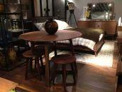 Commune北美黑胡桃实木圆餐桌、圆餐椅