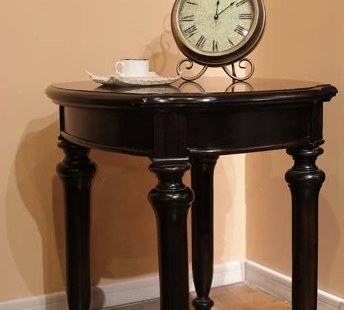 欧领度四腿实木圆桌
